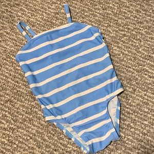 Striped Bathing Suit - One Piece